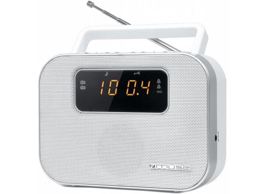 Muse M-081 RW 2-band PLL Portable Radio - White