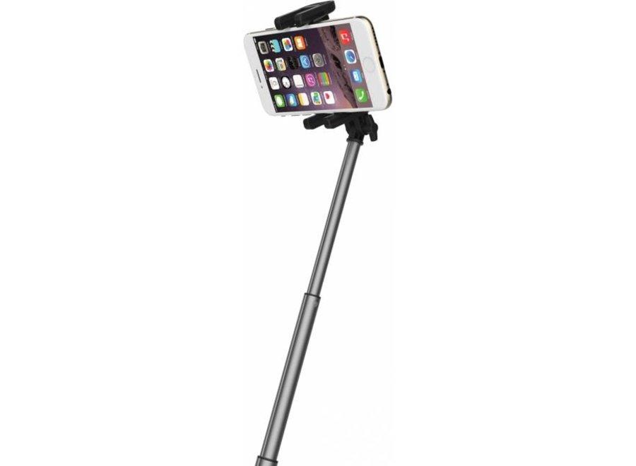 Rock LED Selfie Stick Bluetooth Shutter - Grey