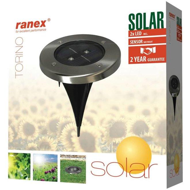 Ranex Torino LED Solar Grondspot - Rond