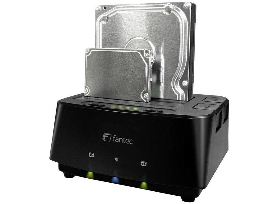 Fantec MR-Copy DU3 HDD USB 3.0 LED Docking Station - Black
