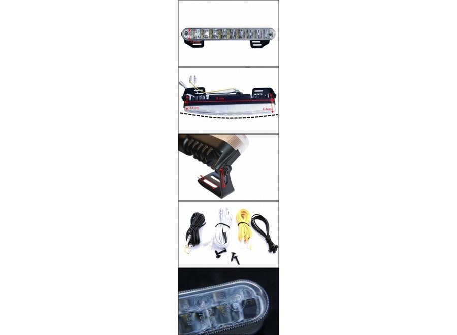 ProPlus 2 x 18 High Power LED's 12V / 24V Dagrijverlichting - 18 cm