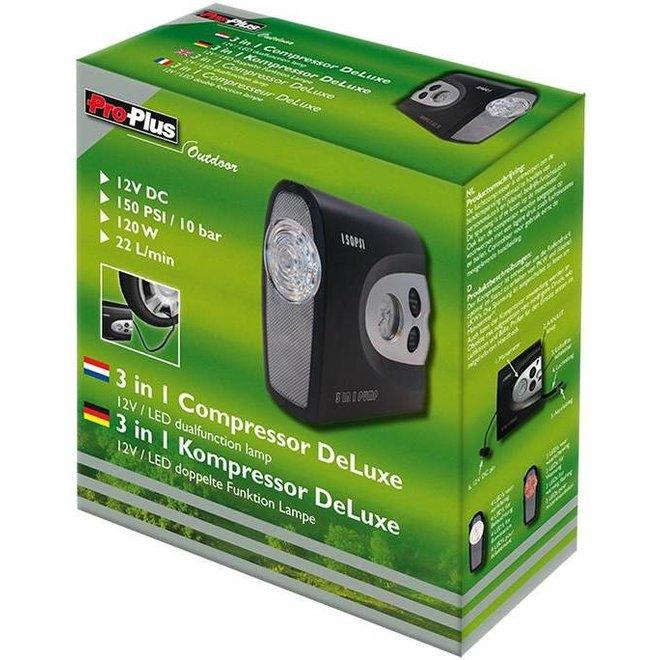 ProPlus LED Luchtcompressor DeLuxe 12V - Black