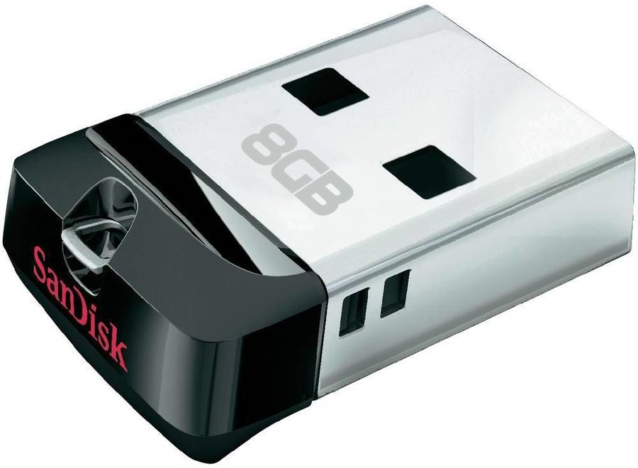 SanDisk LED USB-stick Cruzer Fit 8GB