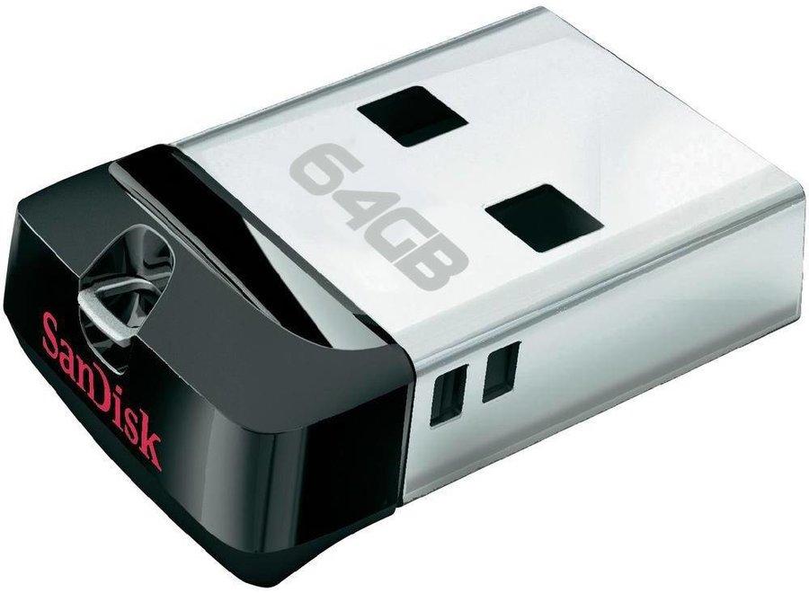 SanDisk LED USB-stick Cruzer Fit 64GB