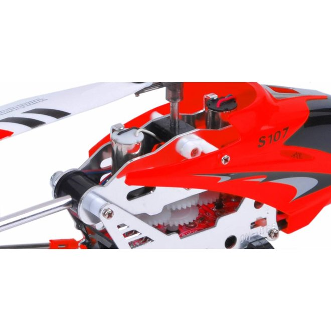Syma S107G 3-Channel RC Mini LED Helicopter - Rood