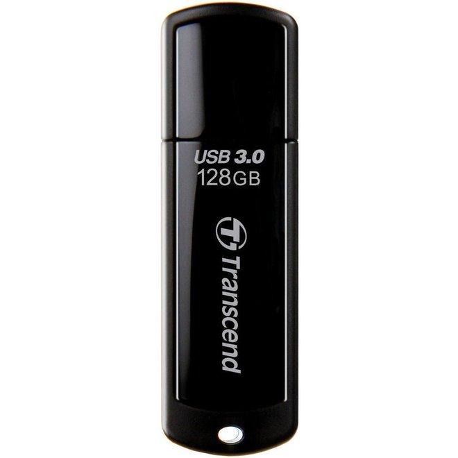 Transcend JetFlash 700 124GB LED USB 3.0 SuperSpeed - Black