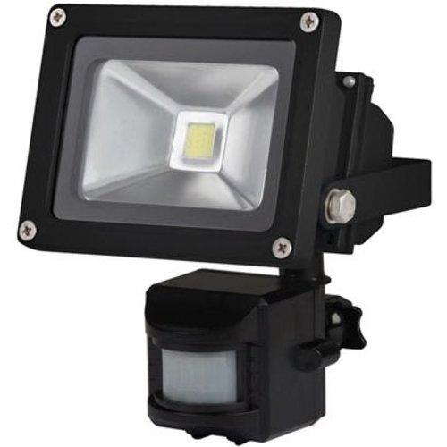 Perel Perel LEDA3001CW-BP COB 6500K LED Lamp met Bewegingssensor 10 W - Black
