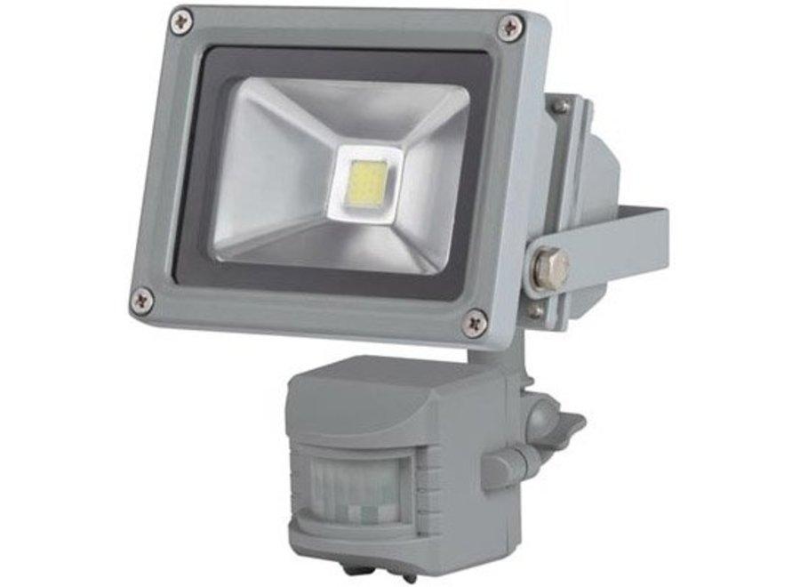 Perel LEDA3001CW-GP COB 6500K LED Lamp met Bewegingssensor 10 W - Grey