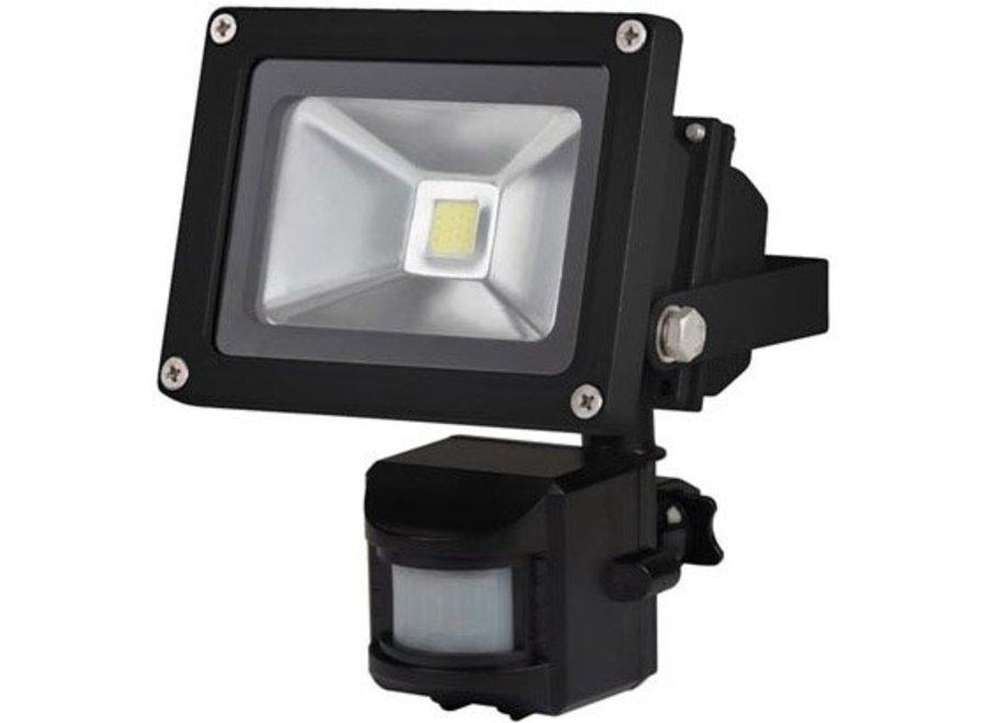 Perel LEDA3001WW-BP COB 3800K LED Lamp met Bewegingssensor 10 W - Black