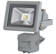 Perel Perel LEDA3001WW-GP COB 3800K LED Lamp met Bewegingssensor 10 W - Grey