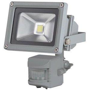 Perel Perel LEDA3001WW-GP COB 3800K LED Lamp met Bewegingssensor 10 W - Grey
