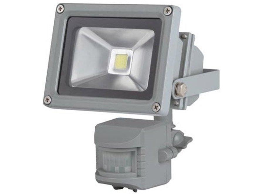 Perel LEDA3001WW-GP COB 3800K LED Lamp met Bewegingssensor 10 W - Grey
