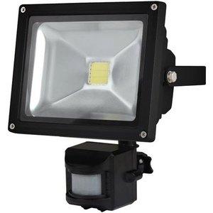 Perel Perel LEDA3002CW-BP COB 6500K LED Lamp met Bewegingssensor 20 W - Black