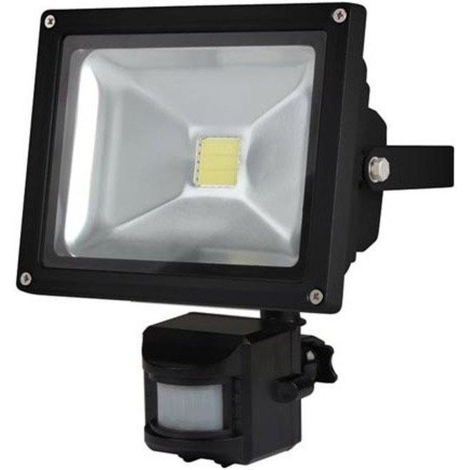 Perel LEDA3002CW-BP COB 6500K LED Lamp met Bewegingssensor 20 W - Black