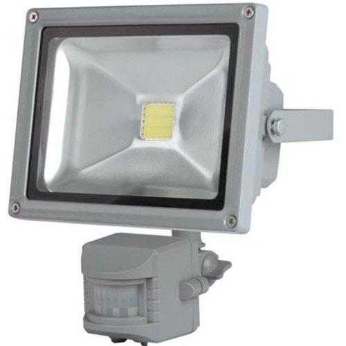 Perel Perel LEDA3002CW-GP COB 6500K LED Lamp met Bewegingssensor 20 W - Grey