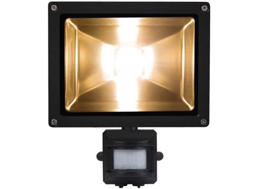 Perel LEDA3002WW-BP COB 3800K LED Lamp met Bewegingssensor 20 W - Black