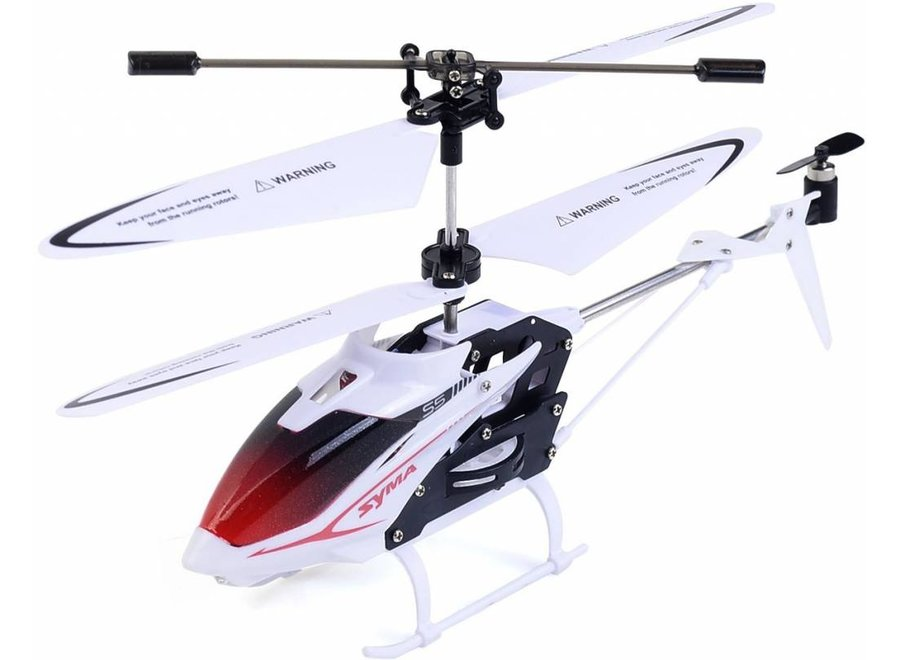 Syma S5 Speed 3-Channel RC Mini LED Helicopter - White