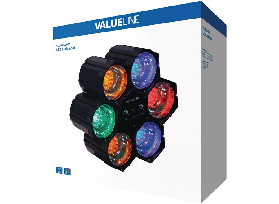 Valueline Multicolour LED Linkspot 6 Lights