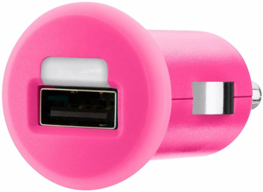 Belkin Mixit LED USB Autolader 1 A - Pink