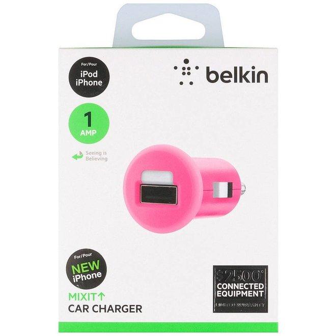 Belkin Mixit LED USB Autolader 1 A - Pink