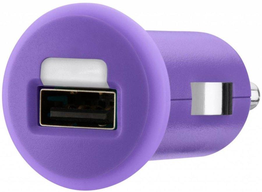 Belkin Mixit LED USB Autolader 1 A - Purple