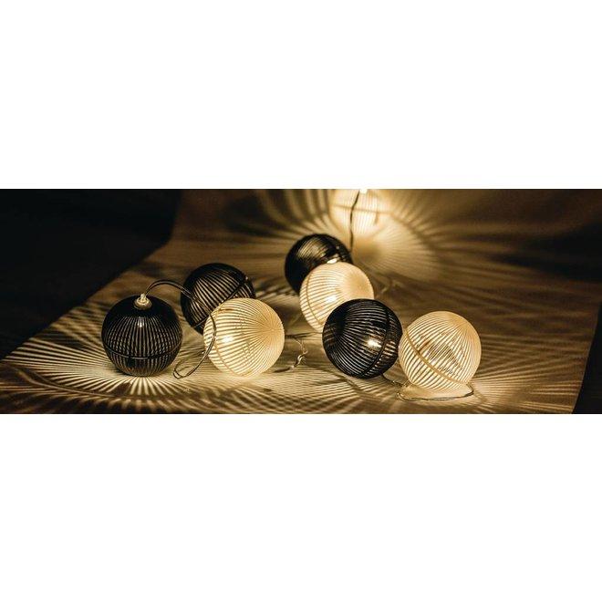 HQ 10 LED's Lichtslinger - Zwart/Wit Bal