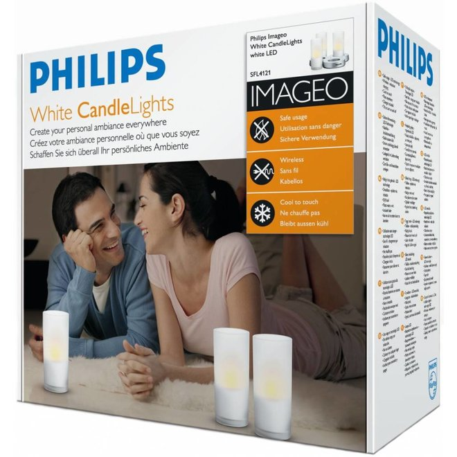 Philips Imageo LED CandleLights 3-set - White