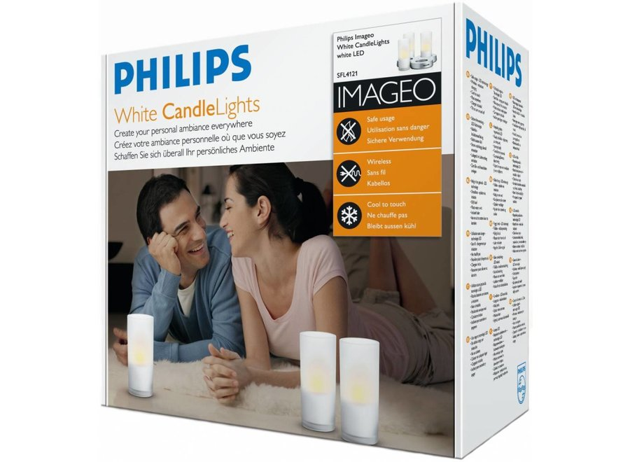 Philips Imageo LED CandleLights 3-set - White