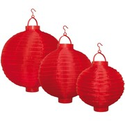 Party LED Lampion 3-set - Red