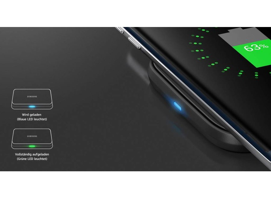 Samsung Mini  P-PA510 LED Inductive Charging Pad - Black