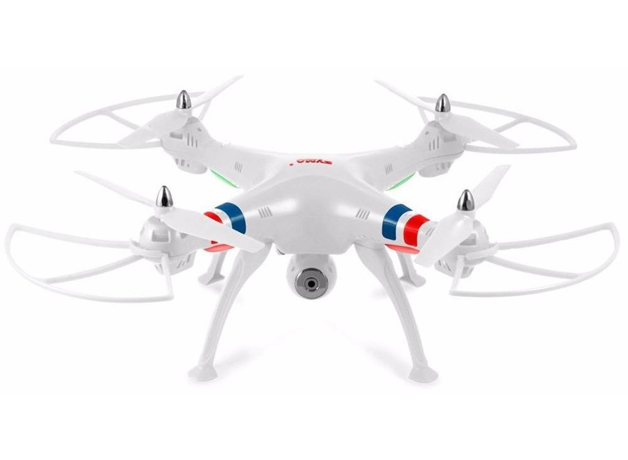 Syma X8W 4-Channel RC LED Helicopter Drone Camera - White