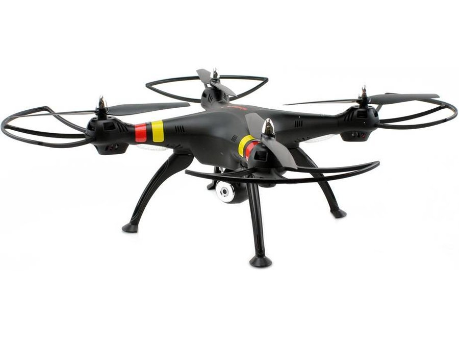 Syma X8W 4-Channel RC LED Helicopter Drone Camera - Black