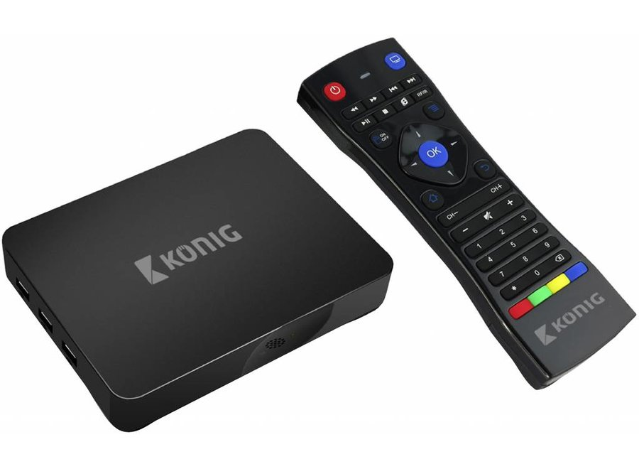Konig 4K Android streaming box 4K 3D 5G Wi-Fi - Black