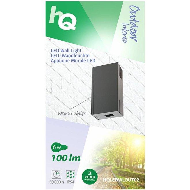 HQ Intenso LED Wandlamp Kubus - Antraciet