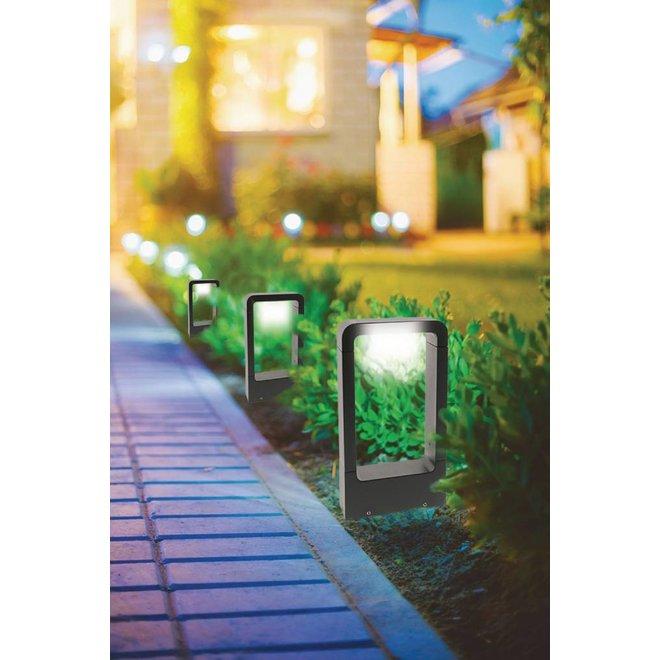 HQ Intenso LED Wandlamp/Grondlamp Vierkant Groot - Antraciet