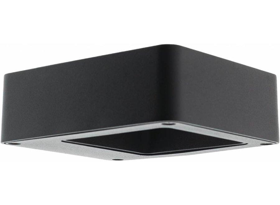 HQ Intenso LED Wandlamp/Grondlamp Vierkant Klein - Antraciet