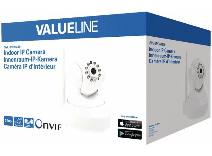 Valueline HD Kantel Zwenk IP-camera voor Binnen 2-wegs Audio - White
