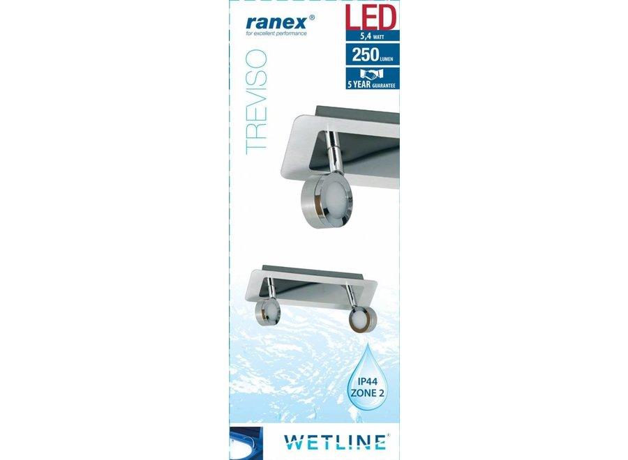Ranex Treviso LED Plafondspot 2 Lampen