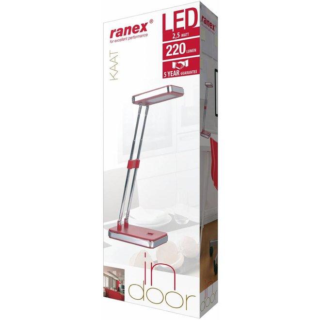 Ranex Kaat LED Bureaulamp - Red