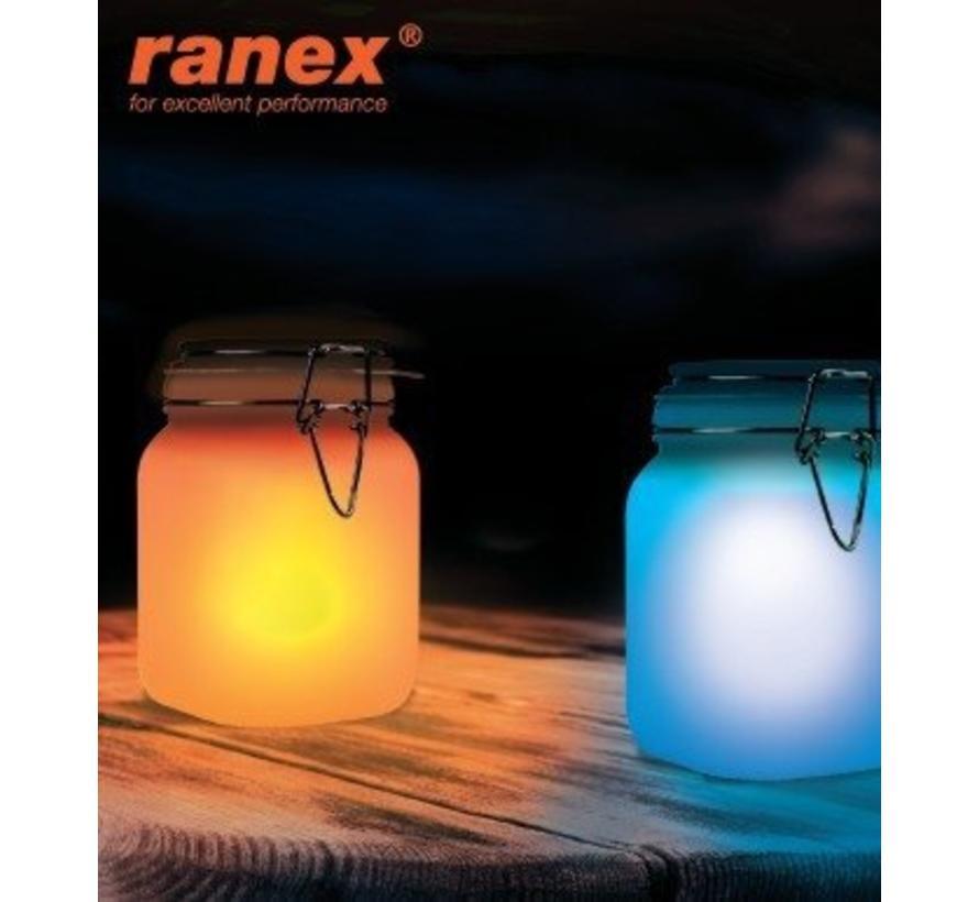 Ranex Railay Solar LED Lamp - Kobaltblauw en Oranje