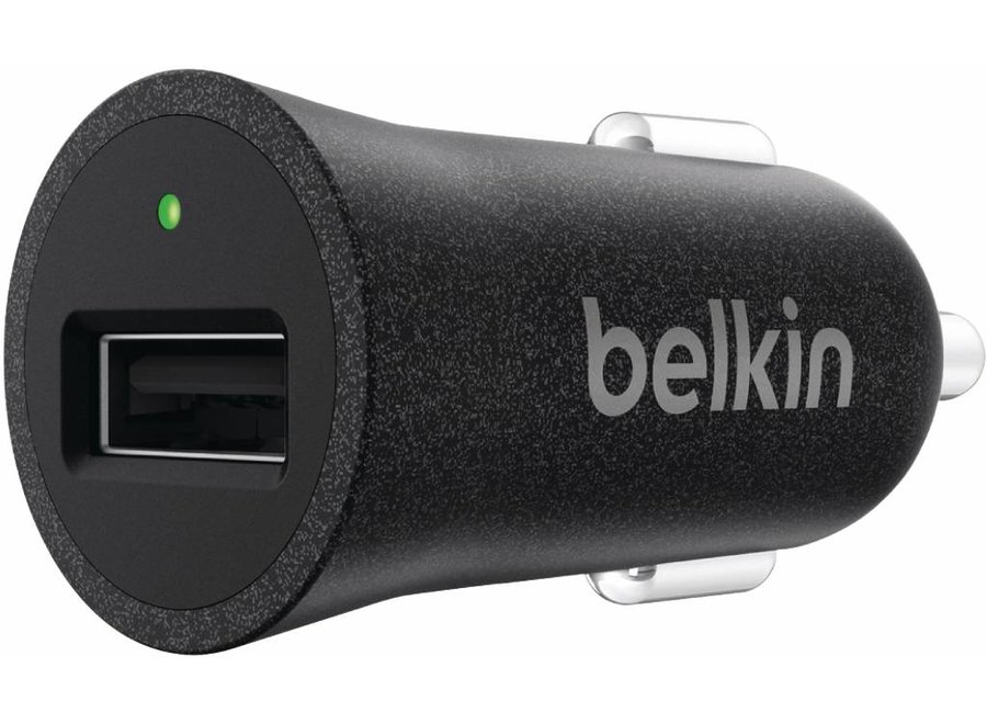 Belkin Mixit Metallic LED USB Autolader 2.4A - Black