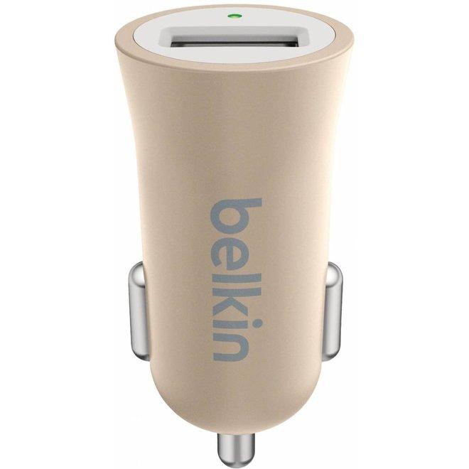 Belkin Mixit Metallic LED USB Autolader 2.4A - Gold