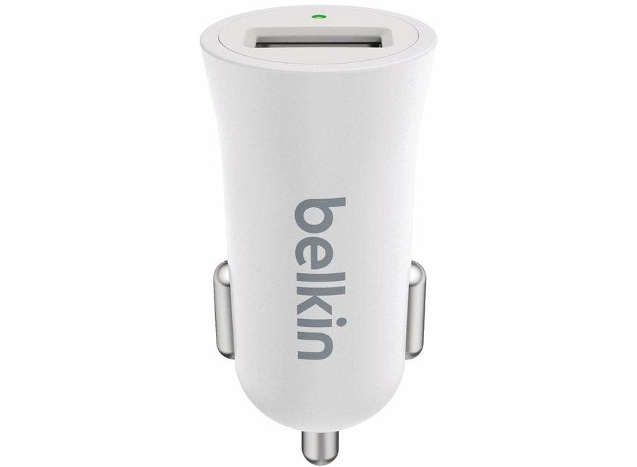 Belkin Mixit Metallic LED USB Autolader 2.4A - White