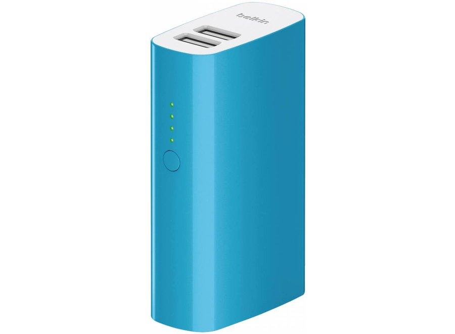 Belkin Mixit LED Powerbank 4000 mAh Dual USB - Blue