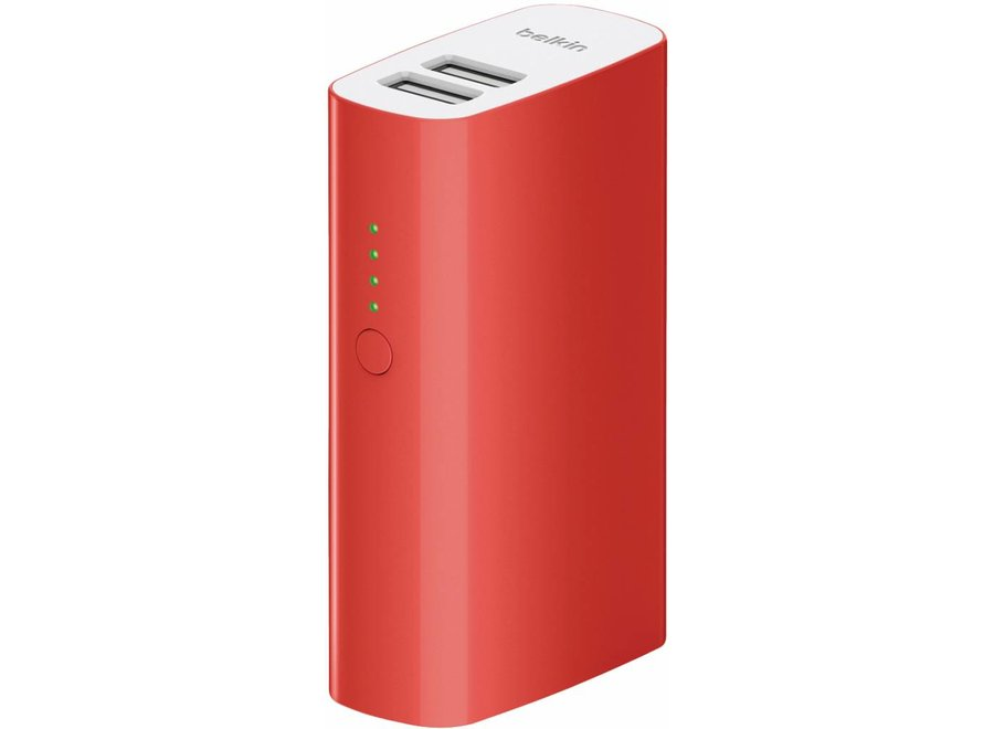 Belkin Mixit LED Powerbank 4000 mAh Dual USB - Red