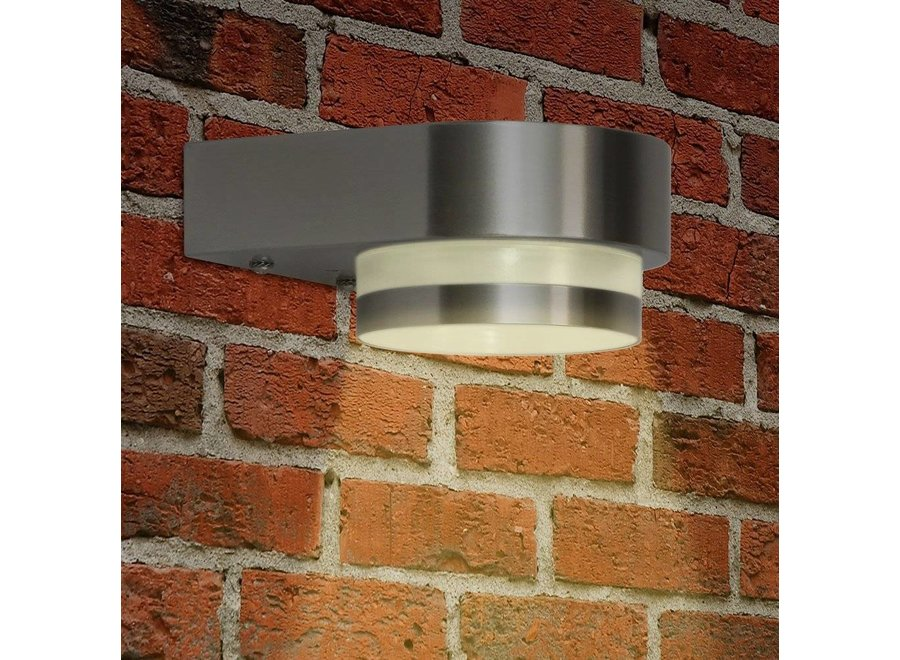Ranex Uma LED Wandlamp Kunststof - RVS