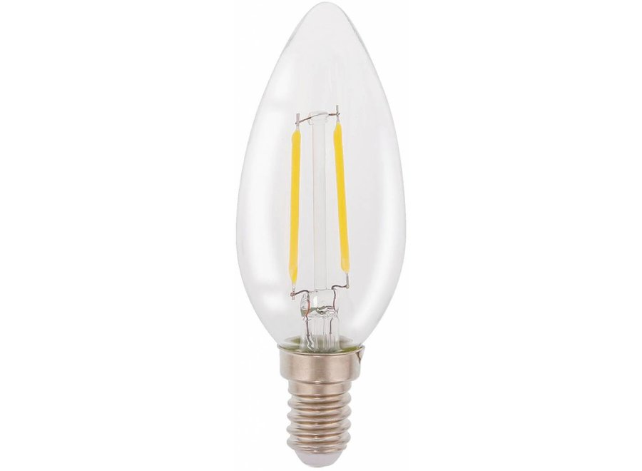 HQ E14 Retro Filament LED Lamp Kaars 2 W (20 W) - 2700 K