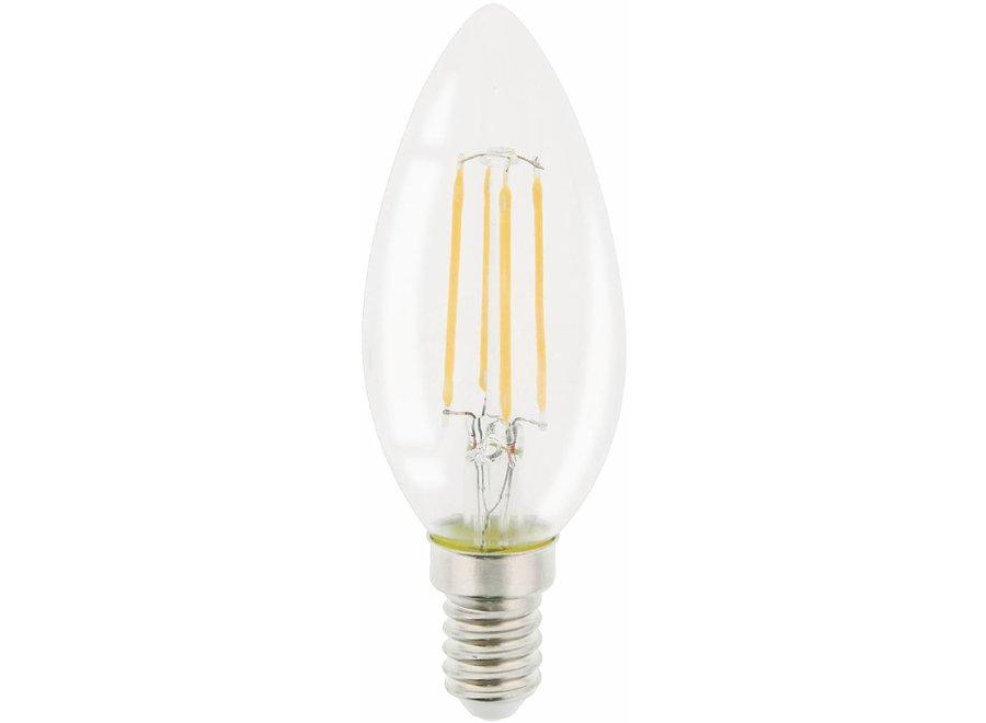 HQ E14 Retro Filament LED Lamp Kaars Dimbaar 4 W (30 W) - 2700 K