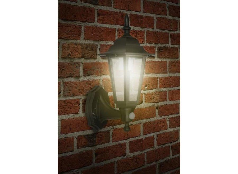 Ranex London Solar LED Wandlamp met Bewegingsmelder - Zwart