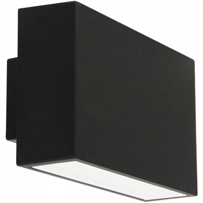 Ranex Ebony LED Wandlamp Aluminium Glas - Zwart